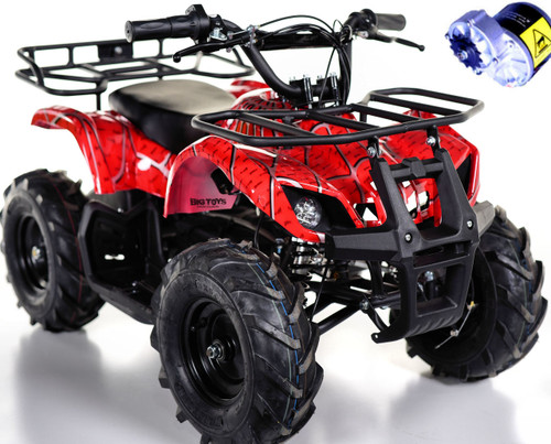 Go-Bowen Red Sonora ATV 24v upgraded motors white background