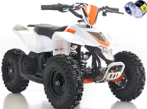 White Go-Bowen 24v Sahara ATV white background