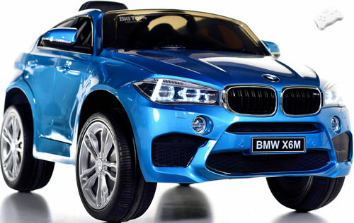 12V BMW X6 SUV Ride On Car w/ remote control & leather seat -Blue