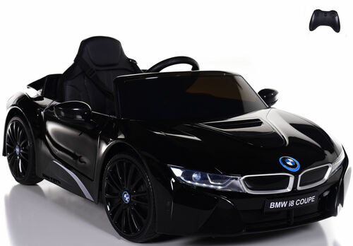 12V BMW I8 Ride On Car w/ remote control + upgraded motors & leather seats - Black