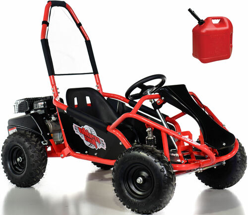 98cc 4-Stroke Gas Go-Kart w/ Upgraded Suspension - Red