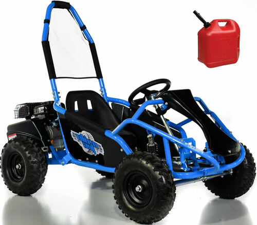 Fast 4-Stroke Gas Go-Kart w/ Upgraded Suspension - Blue