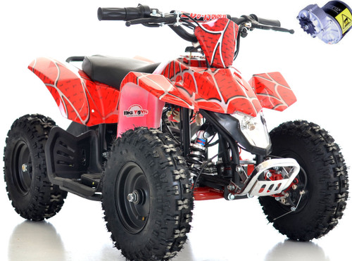 Red 24v Sahara ATV white background