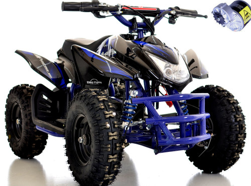electric blue go-bowen titan atv 24v moto tec