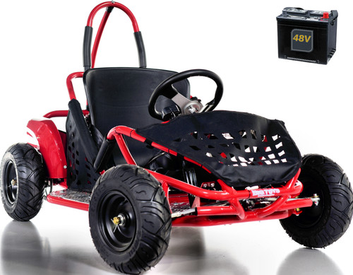 Big Toys Baja Electric 48V Go-Kart w/ BIG MOTOR + FREE shipping -Red