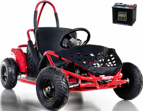 Big Toys Baja Electric 48V Go-Kart w/ BIG MOTOR + FREE shipping - Red