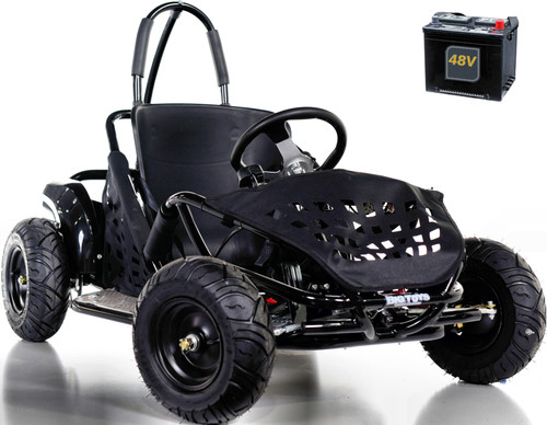 Big Toys Baja Electric 48V Go-Kart w/ BIG MOTOR + FREE shipping -Black