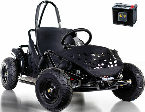 Big Toys Baja Electric 48V Go-Kart w/ BIG MOTOR + FREE shipping - Black