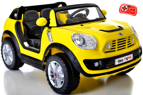 Mini Beachcomber 12V upgraded Ride On With Remote & MP3 + Yellow 2 Seater