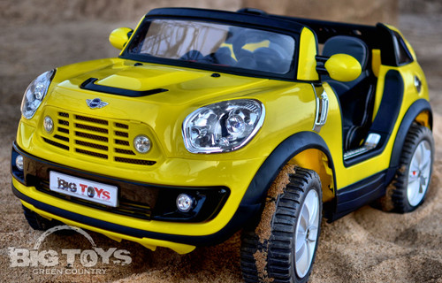 kids 2 seater power wheels mini beachcomber yellow