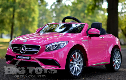 Mercedes benz s63 with rc ride on power wheel w rubber for Mercedes benz power wheels