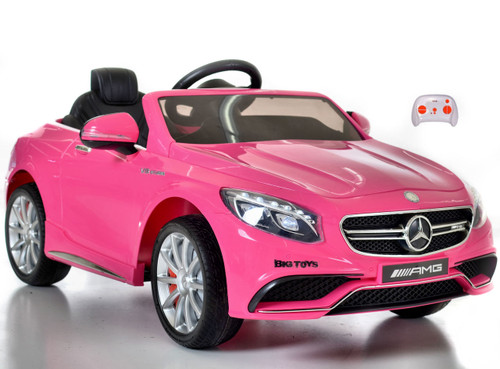 Mercedes S63 toddler Ride On Car Pink