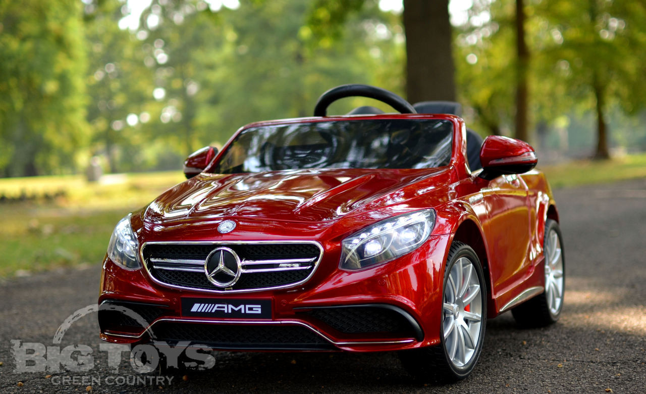 Mercedes ride on amg s63 power wheel for Red mercedes benz power wheels