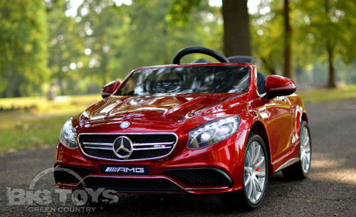 RC Ride On Mercedes Candy paint red