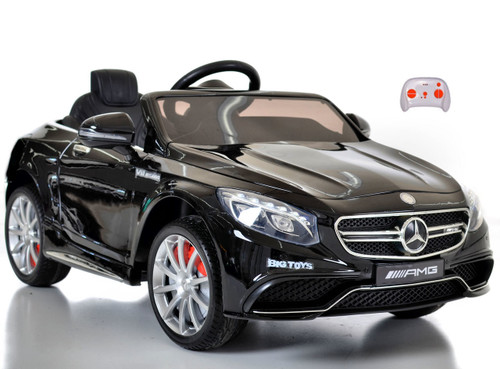 black Mercedes S63 for toddlers