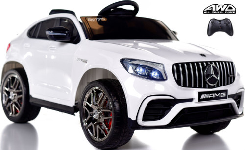 Mercedes GLC 63S Ride On SUV w/ All Wheel Drive & Rubber Tires - White