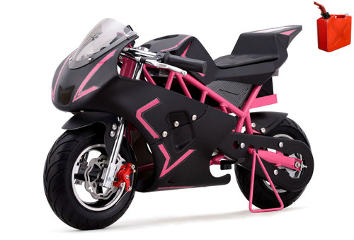 4-Stroke Gas Powered Pro Pocket Bike / Mini Motorcycle by Go-Bowen - Pink