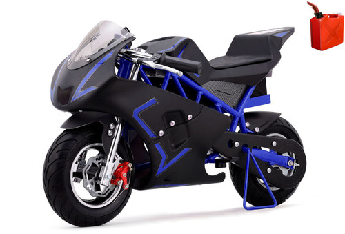 4-Stroke Gas Powered Pro Pocket Bike / Mini Motorcycle - Blue / Black
