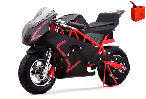 4-Stroke Gas Powered Pro Pocket Bike / Mini Motorcycle - Red / Black