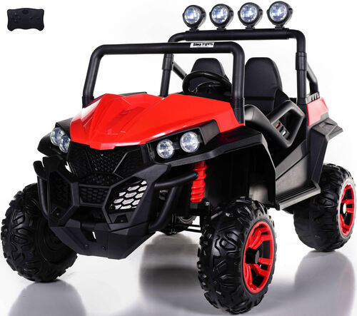 24v Trail Cat 2.0 Ride On UTV w/ Rubber Tires & Leather Seat - Red
