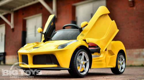 yellow LaFerrari RC Ride On for toddlers