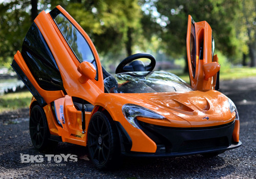 Ride on car RC remote control kids McLaren Orange Lambo Doors