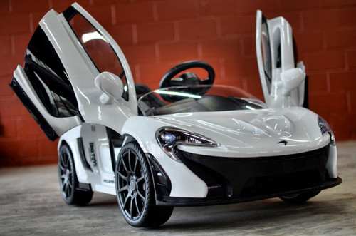 Ride on car RC remote control kids McLaren White Lambo Doors