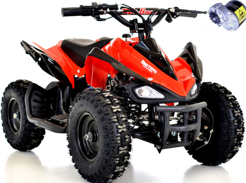kids 24v atv w/ upgraded motor red