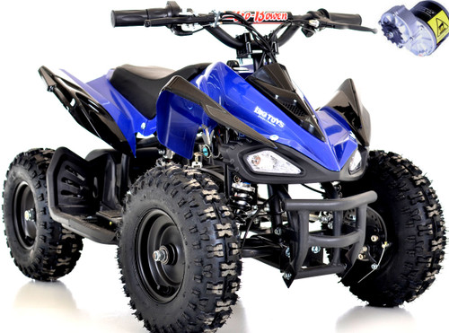 Blue kids Mars Raptor style like Yamaha toddler kids 24v 350 bowen atv