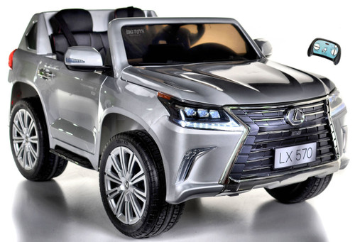 Lexus LX 570 Kids Ride On SUV 4X4 all wheel drive w/ remote control -Silver