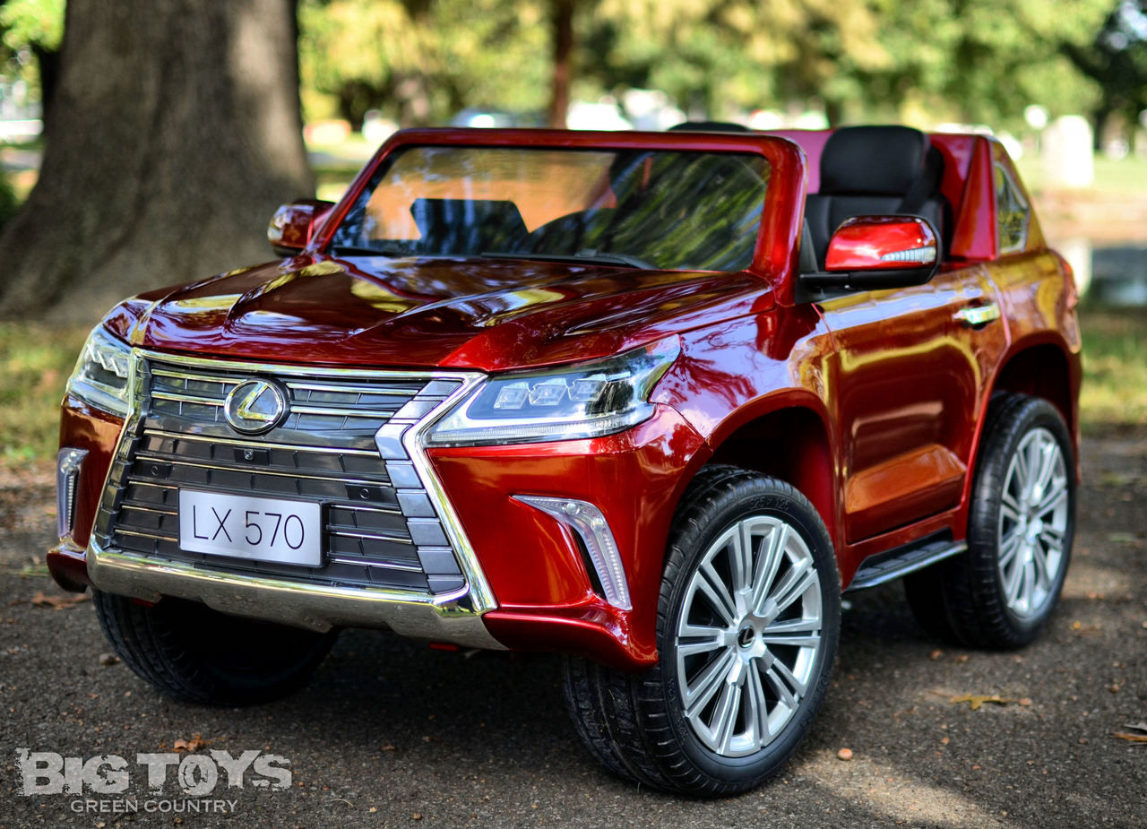 Lexus Lx 570 Kids Ride On Suv 4x4 W All Wheel Drive Remote Control Red Big Toys Green Country