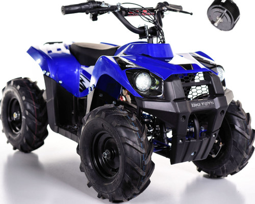 Super Sport 36V 500W Kids 4 wheeler ATV + FREE Shipping -Blue