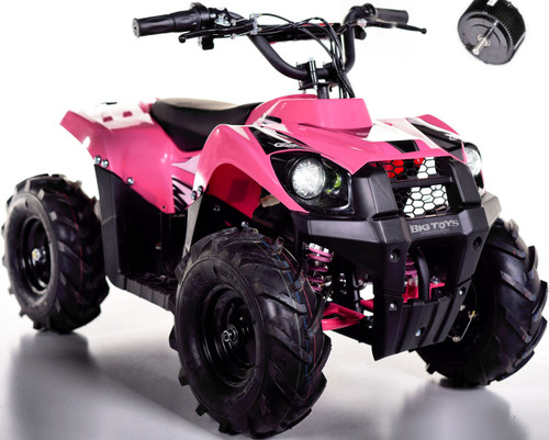 Super Sport 36V 500W Kids 4 Wheeler ATV - Pink