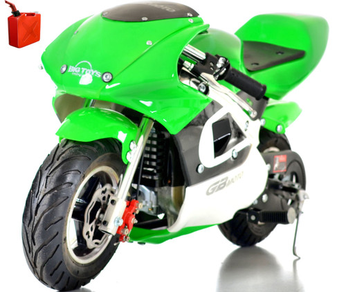 gas powered mini bike big toys green country