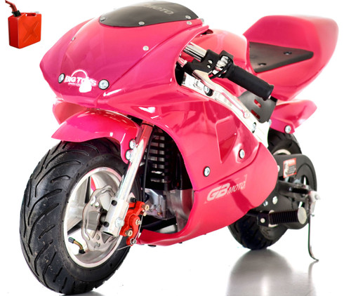 Pocket Bike / Mini Motorcycle 4 stroke gas powered By Go-Bowen -Pink