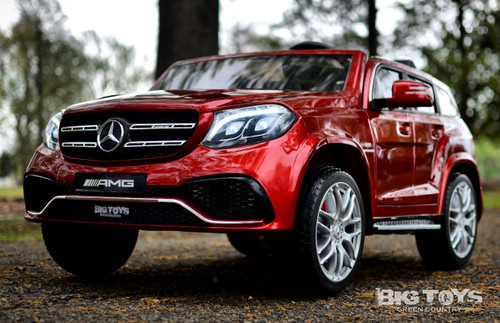 GLS 63 Mercedes-Benz AMG Ride On SUV w/ all wheel drive & 2 Seats Red LED lights, MP3 player input, parental remote 3 Speeds Rubber Tires Leather Seats kids