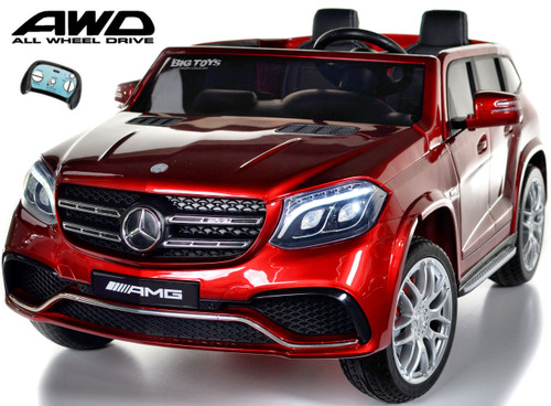 GLS 63 Mercedes-Benz AMG Ride On SUV w/ All Wheel Drive & 2 Seats - Red