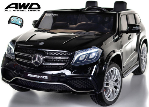 GLS 63 Mercedes-Benz AMG Ride On SUV w/ All Wheel Drive & 2 Seats - Black