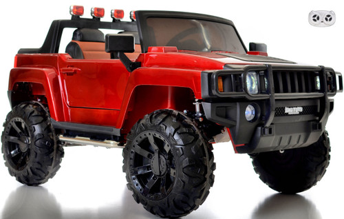 12V Ridge Runner Ride On Pickup Truck w/ rubber tires & 2 seats -Red