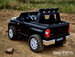toddler toy black kids Ride On Truck 2 seater with working light bar and rubber tires
