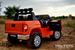 toddler toy orange kids Ride On Truck 2 seater with working light bar and rubber tires