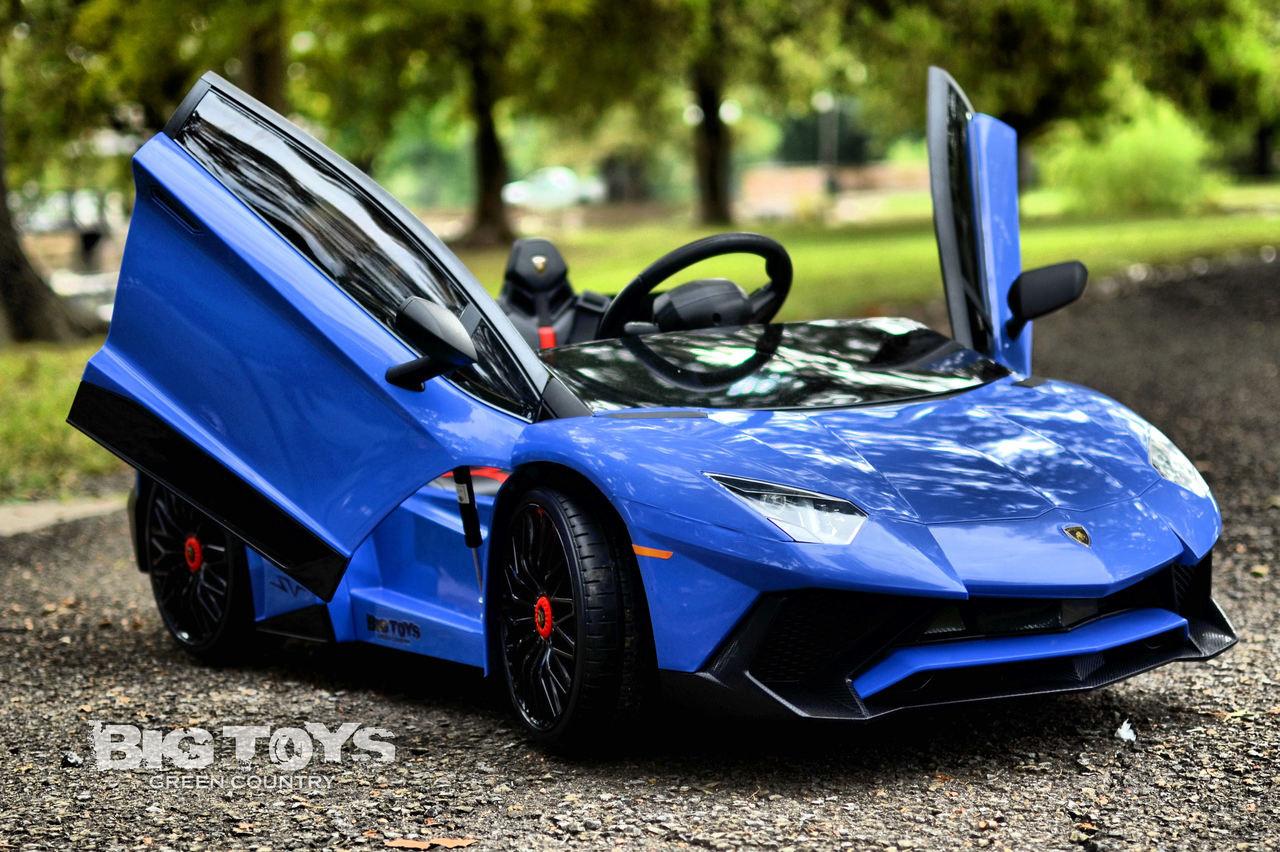 Big Toys Blue Battery power wheel Lamborghini 12v kids ...