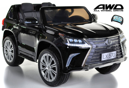 Lexus Ride-On SUV remote controlled rubber tires  leather seat painted black