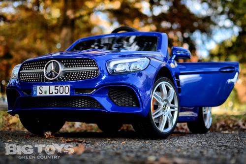 Mercedes-Benz SL 500 blue doors front driver side view