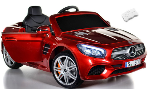 Mercedes-Benz SL 500 red white background doors