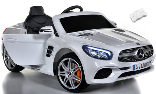 Mercedes SL 500 white background doors rubber tires