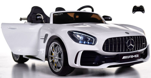 Big 2 Seat AMG GT R Mercedes-Benz  Ride On car toddler car - White