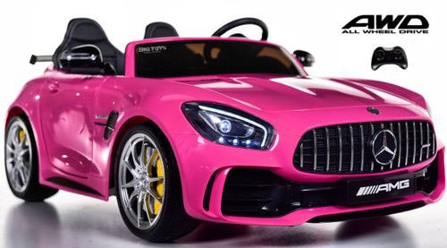 Big 2 Seat AMG GT R Mercedes-Benz  Ride On car toddler car - Pink