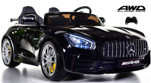 Big 2 Seat AMG GT R Mercedes-Benz  Ride On car toddler car - Black