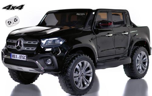4 wheel drive 4x4 Mercedes X Class Ride On Truck w/ remote control - Black